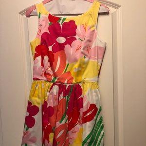 Lilly Pulitzer floral keyhole back dress